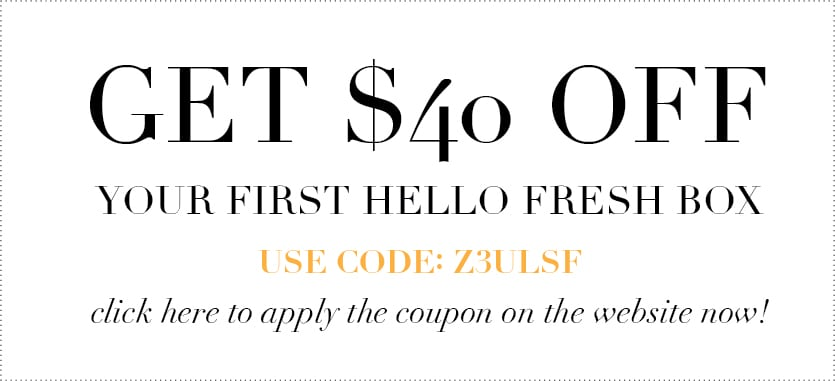 Hello Fresh coupon - hello fresh discount code - jessica brigham blog