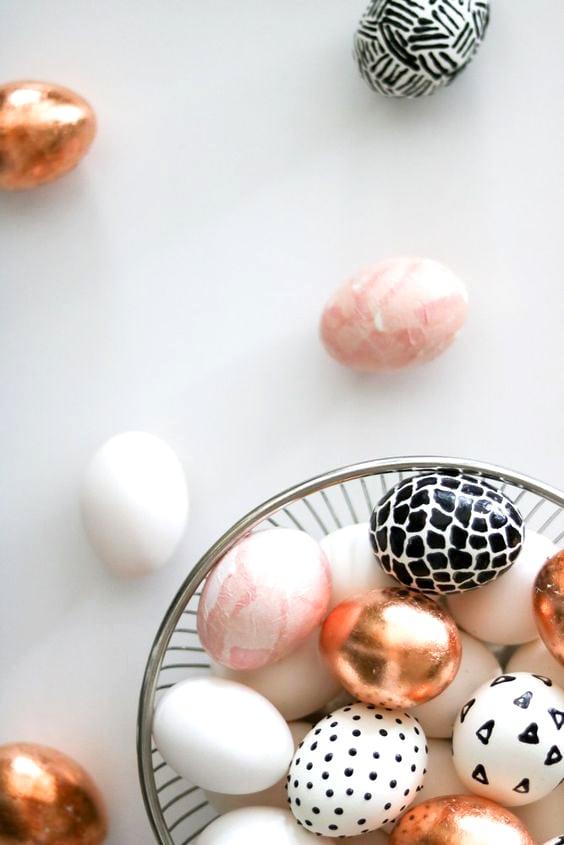 Easy DIY Easter Decorations   Rose & Gold Easter Eggs   Lily Ardor
