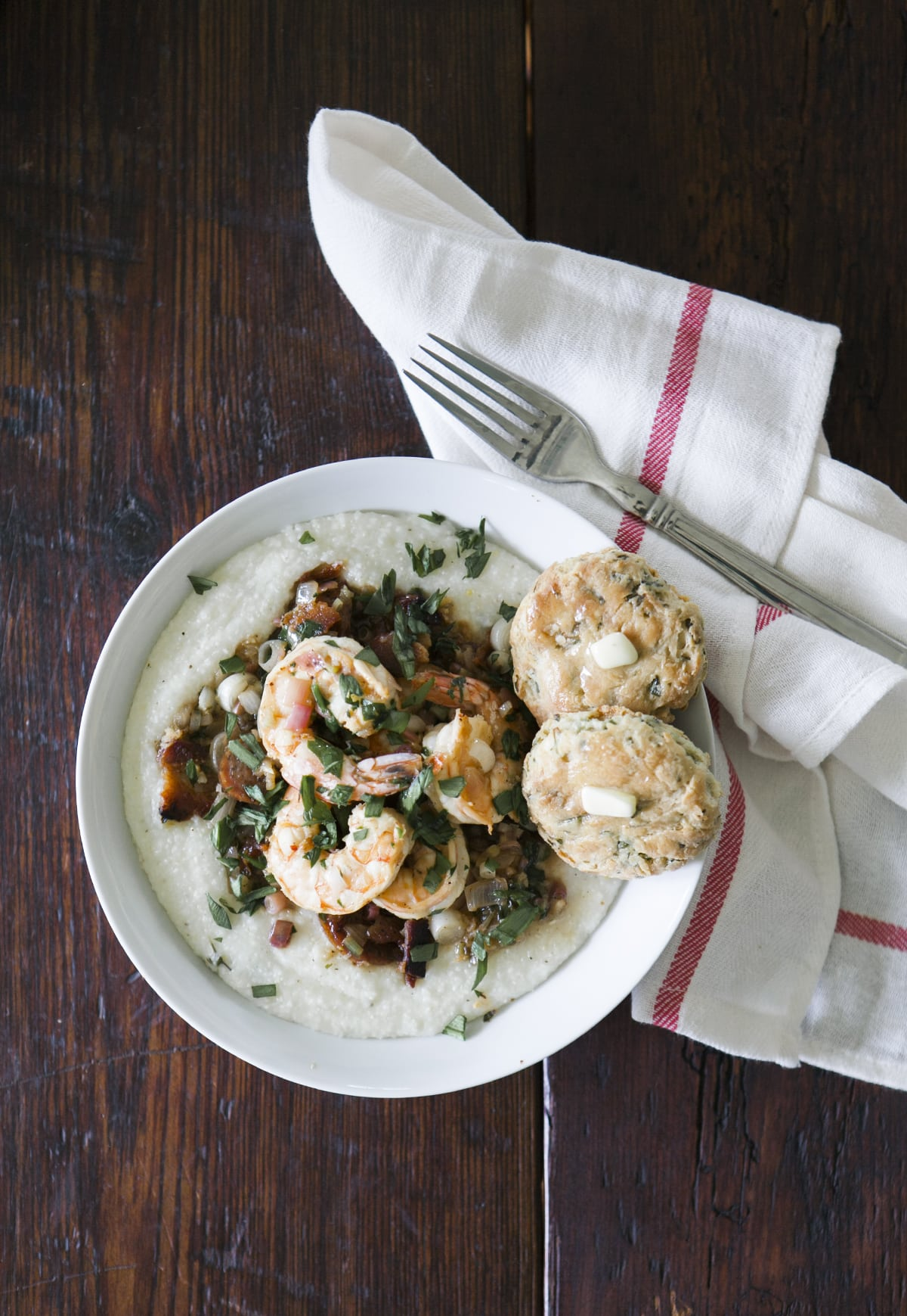 Wannabe Southern Shrimp & Grits with Rampscuits