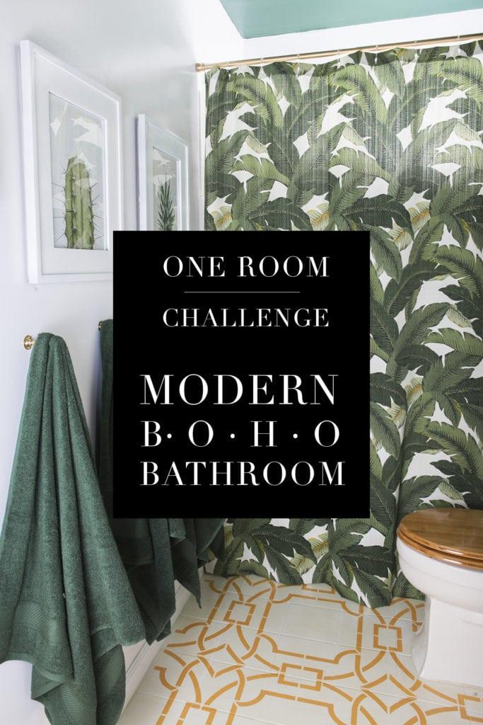 One Room Challenge Modern Boho Bathroom Reveal 187 Jessica