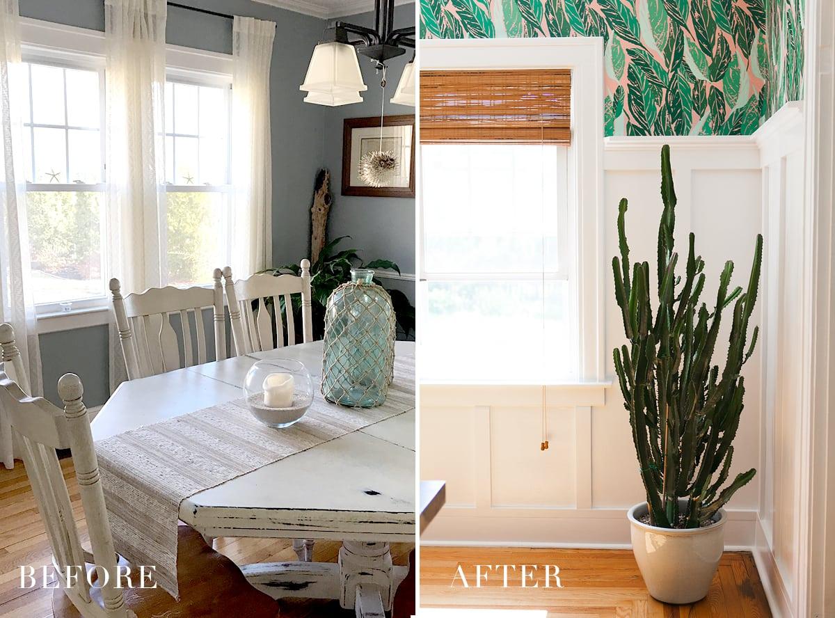 Before After Modern Vintage Dining Room Reveal Jessica Brigham