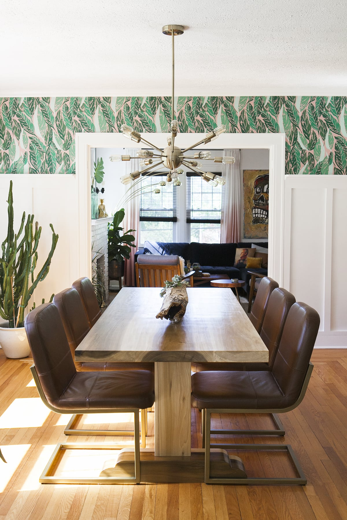 Before after modern vintage dining room reveal for Modern home decor for less
