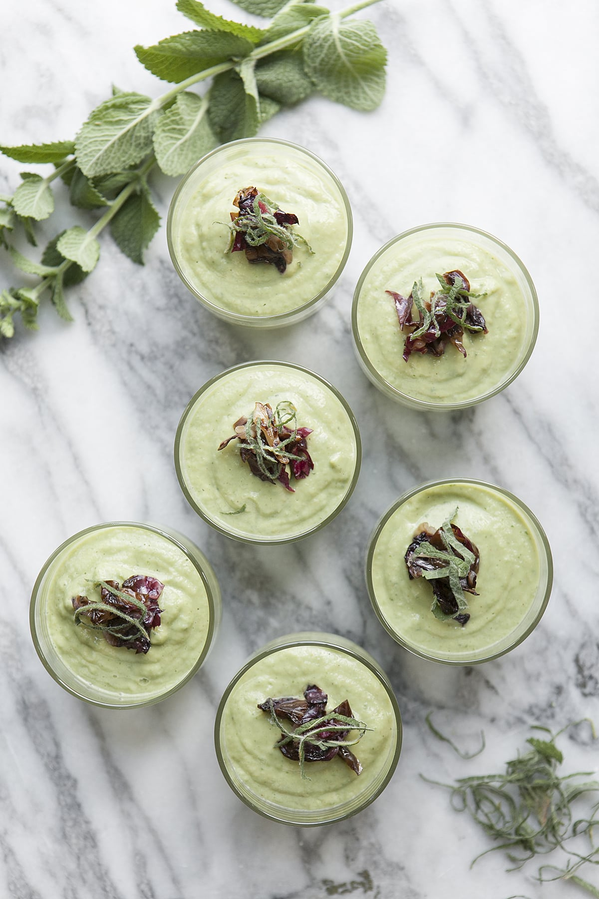 A Radicchio Chilled Avocado Mint Soup | Roasted Radicchio | Easy Appetizers Recipe | Jessica Brigham Blog