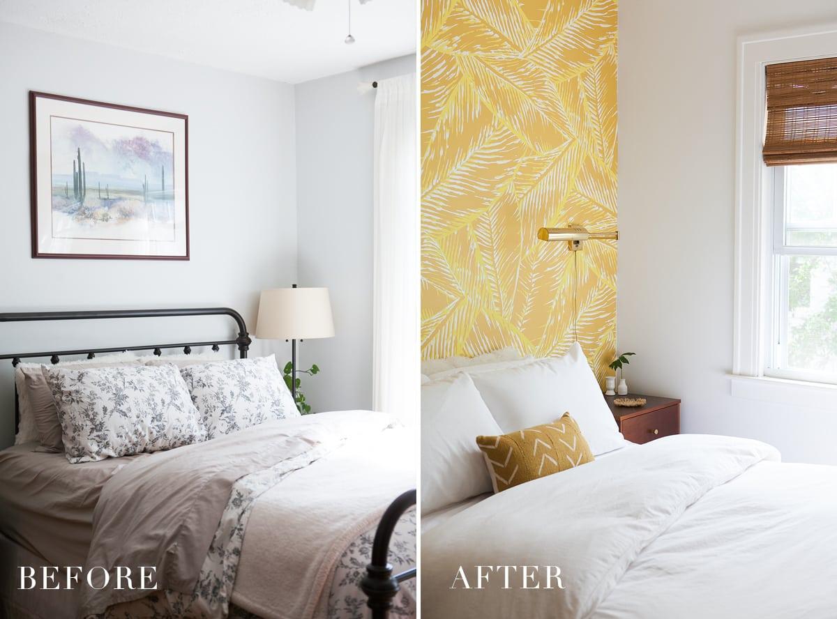 Before & After: Boho Glam Master Bedroom Reveal » Jessica ... on Boho Master Bedroom Ideas  id=42028