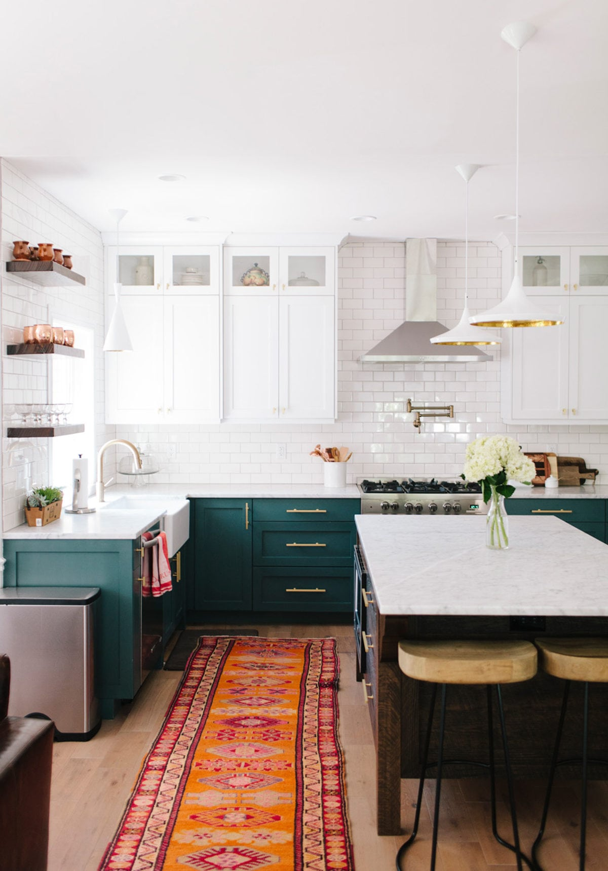 exciting green kitchens white cabinets | The Best Dark Green Kitchens Like Ever » Jessica Brigham