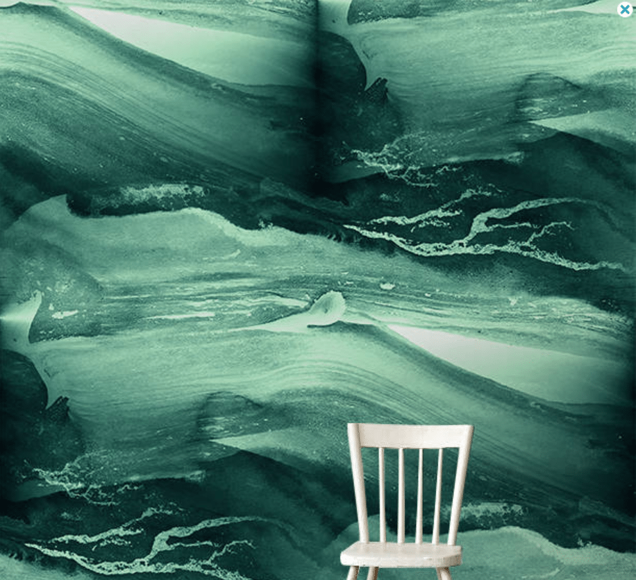 Wallpapers I'm Really Into Right Now | Green Watercolor Mural | Jessica Brigham | Magazine Ready for Life