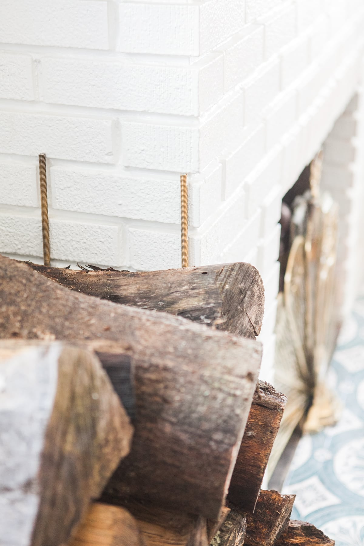 DIY Firewood Rack | Log Holder | Jessica Brigham | Magazine Ready for Life