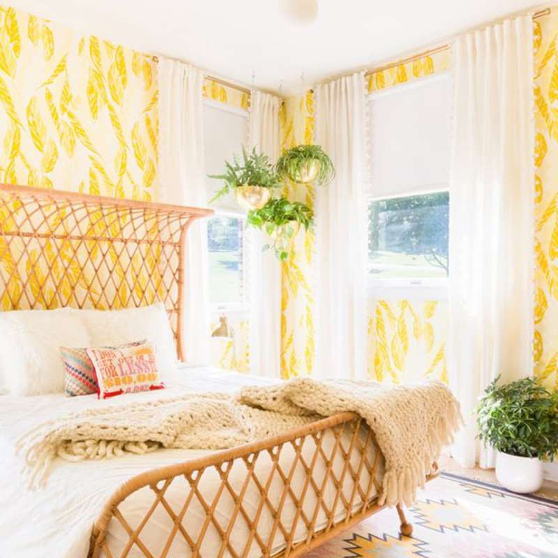 Five Colorful Desert Jungle Chic Bedrooms, One Room Challenge, Week Two