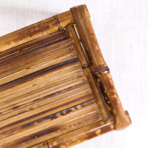 Small Bamboo Rattan Plant Stand | Jessica Brigham