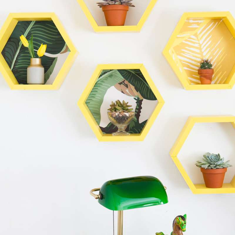 DIY Honeycomb Hexagon Shelves | How to Build Shelves | Jessica Brigham | Magazine Ready for Life
