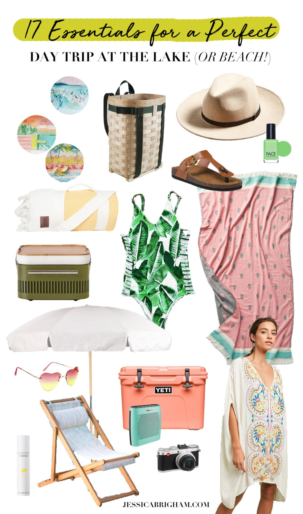 17 Essentials for a Perfect Day at the Lake (or Beach!) | What to Bring | Jessica Brigham | Magazine Ready for Life