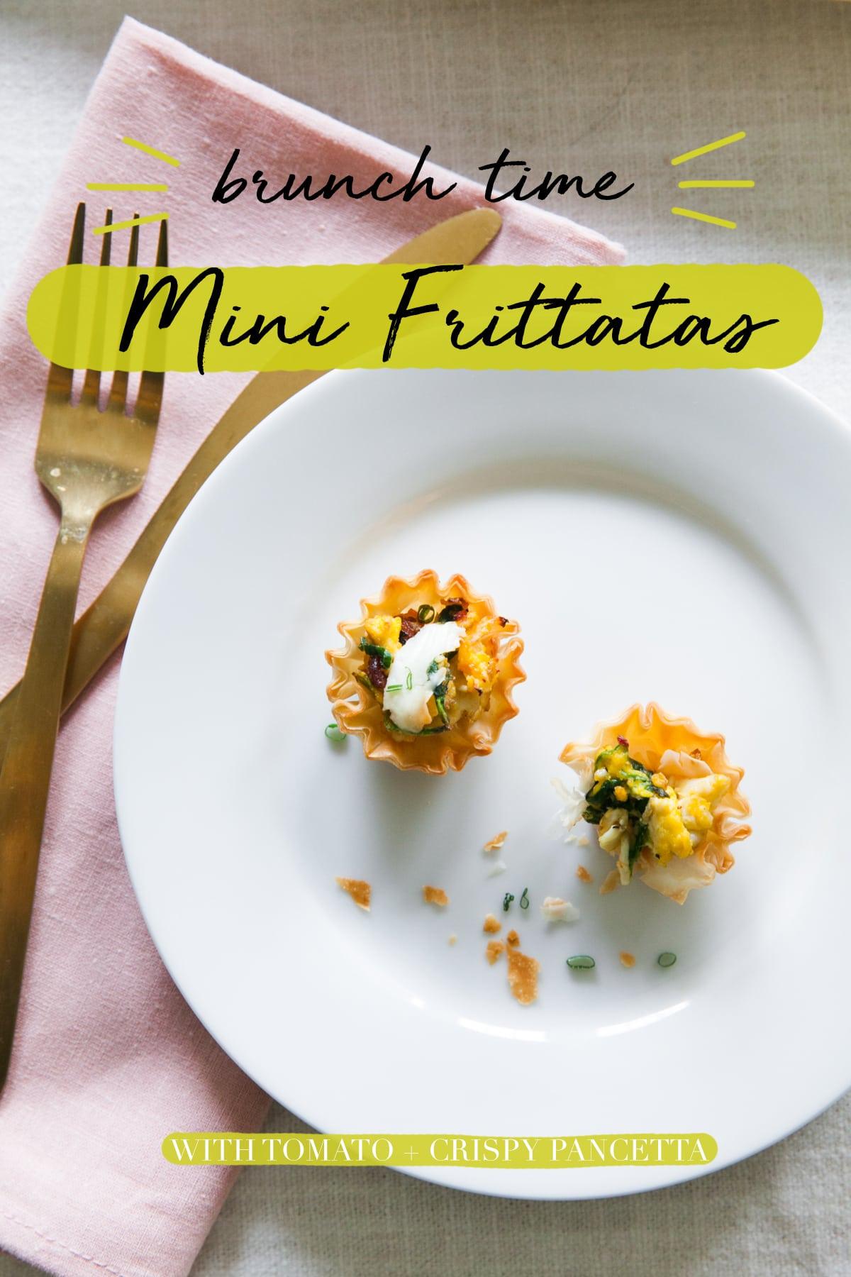 Brunch Time! | Mini Frittatas with Tomato + Crispy Pancetta | Quick Brunch Recipes | Amuse Bouche Breakfast Foods | Jessica Brigham Magazine for Life