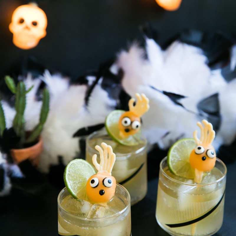 Dark & Stormy | Spooky Melon Balls | Halloween Cocktails | Halloween Party Ideas | Jessica Brigham | Magazine Ready for Life