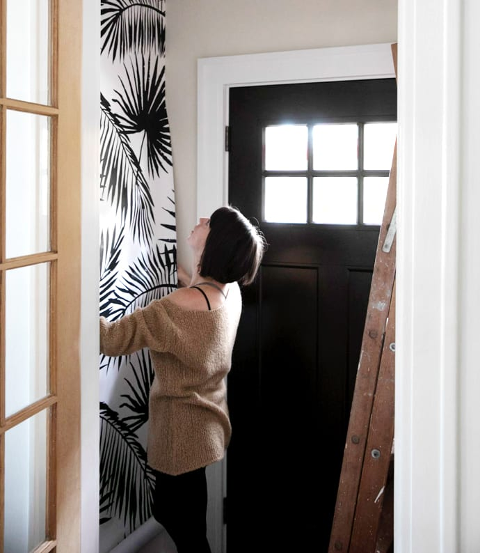 03 how to install removable wallpaper peel and stick self adhesive coloray tropical palms jessica brigham magazine ready for life
