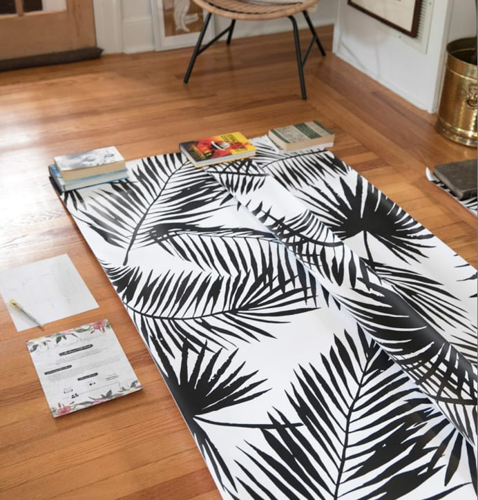 How to Install Removable Wallpaper | Peel & Stick | Self-Adhesive | Colorary | Tropical Palms | Jessica Brigham | Magazine Ready for Life