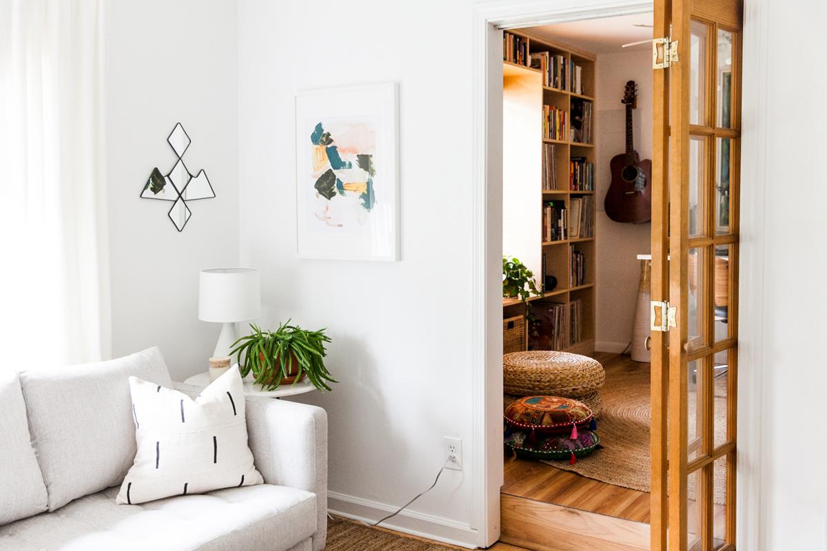 An Eclectic Mid Century-Inspired Home Recording Studio   Room Ideas   Modern Design   Jessica Brigham   Magazine Ready for Life   www.jessicabrigham.com