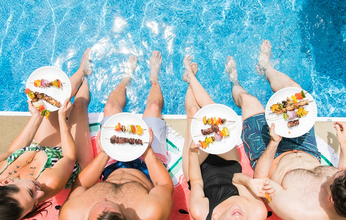 Colorful, Summer Pool Party Ideas with Bed, Bath & Beyond