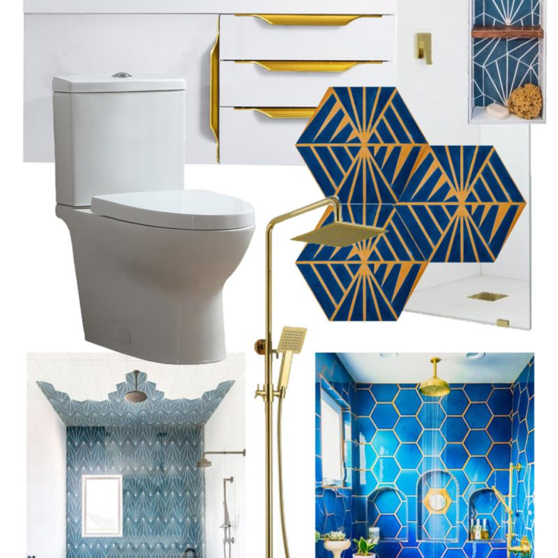 Bold Glam Guest Bathroom Remodel | Bathroom Mood Board | Bathroom Decor Ideas | Jessica Brigham | Magazine Ready for Life | jessicabrigham.com