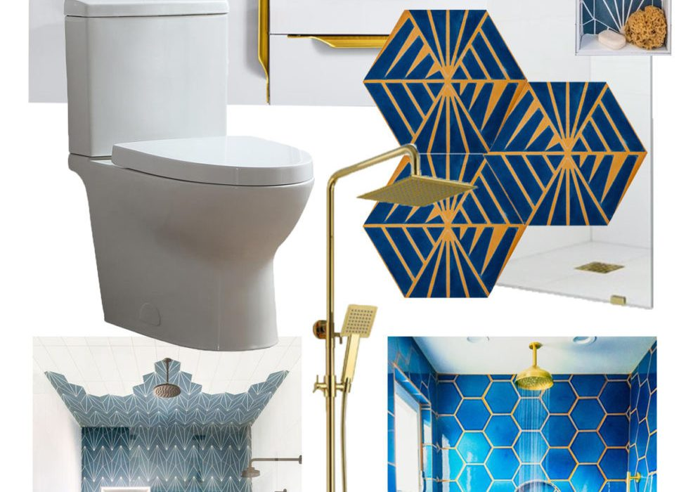 Bold and Glammy Guest Bathroom Remodel – The Mood Board