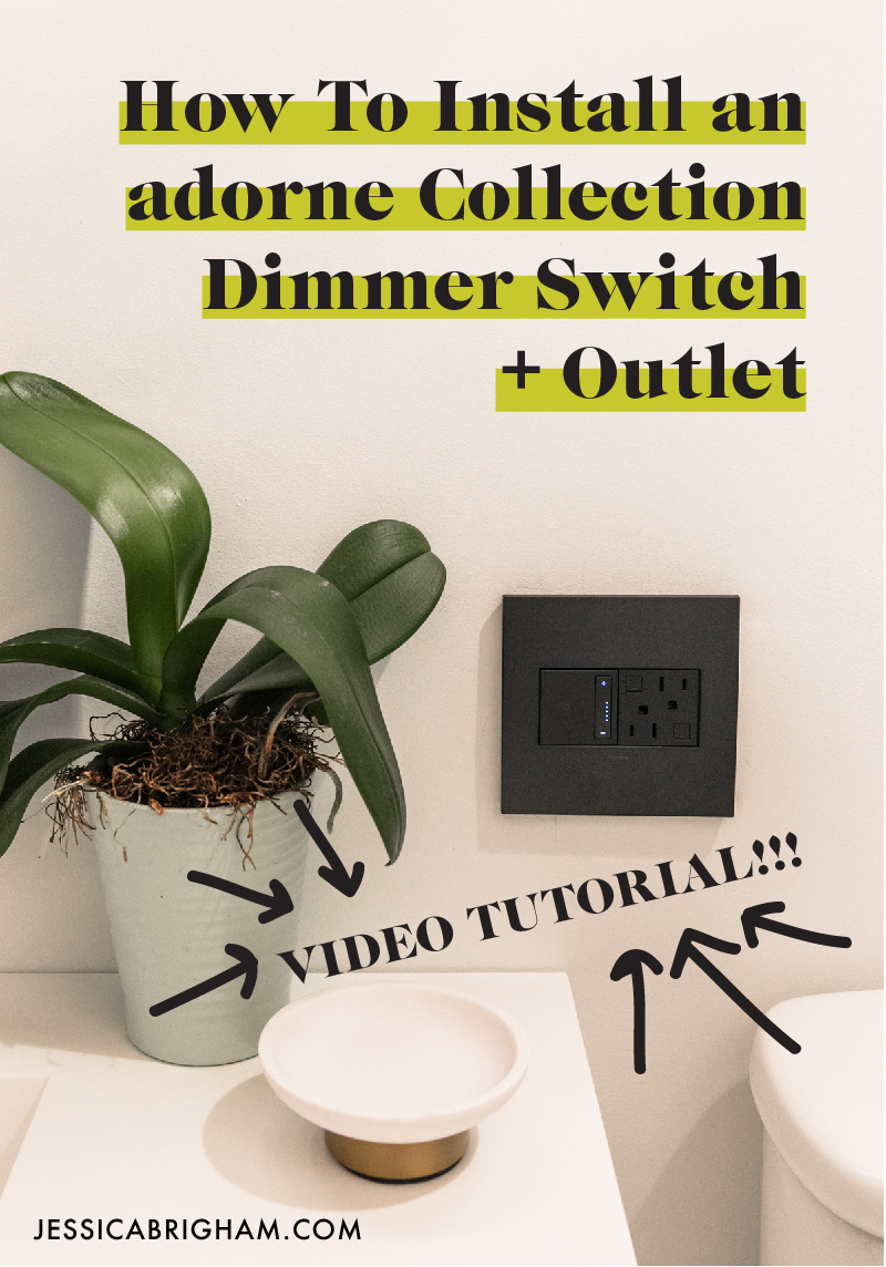 How to Install an adorne Collection Dimmer Switch + Outlet | DIY at Home | How to Change a Light Switch