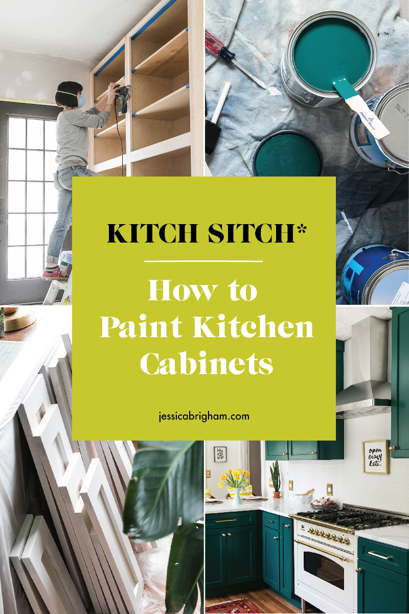 Kitch Sitch* | How To Paint Kitchen Cabinets | DIY | Jessica Brigham | Magazine Ready for Life | JessicaBrigham.com