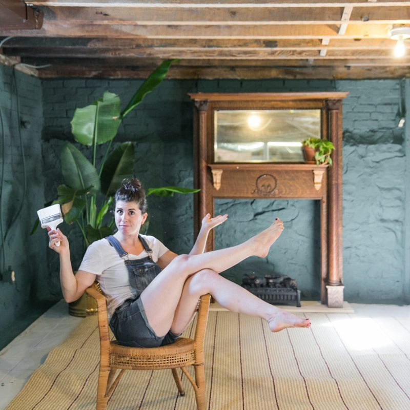 How to Paint Old Stone Basement Walls | DRYLOK | Basement Remodel | Basement Restoration | DIY at Home | VIDEO TUTORIAL | JessicaBrigham.com