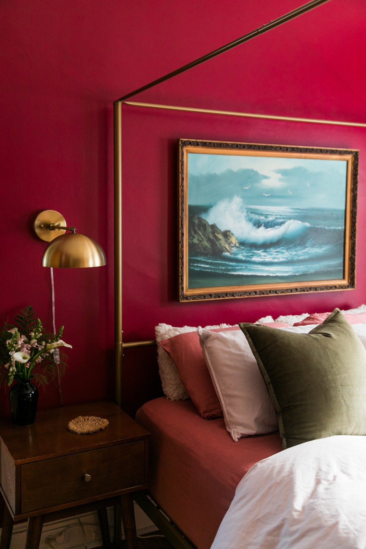 How Paint Transformed This Bedroom into a Luxurious Retreat | Romantic Vintage Timeless Bedroom Inspiration | Bedroom Ideas | Bedroom Makeover | Paint Transformations | JessicaBrigham.com