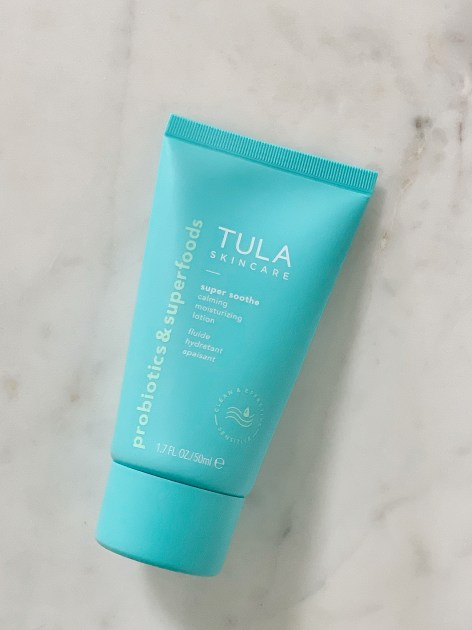 Tula Skincare by popular Houston beauty blogger, Jessica Crum: image of Tula Super Soothe Calming Moisturizing Lotion.