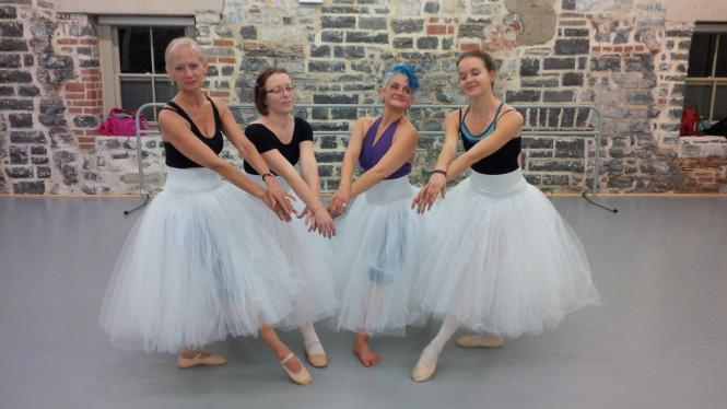 Taking ballet classes teaching children through example