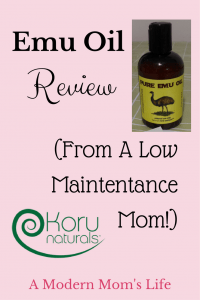Emu Oil Review (From A Low Maintenance Mom!)