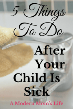 5 Things To Do After Your Child Is Sick