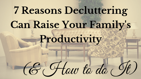 Decluttering can raise your productivity