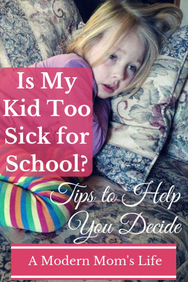 Is my kid too sick for school? Tips to help you decide