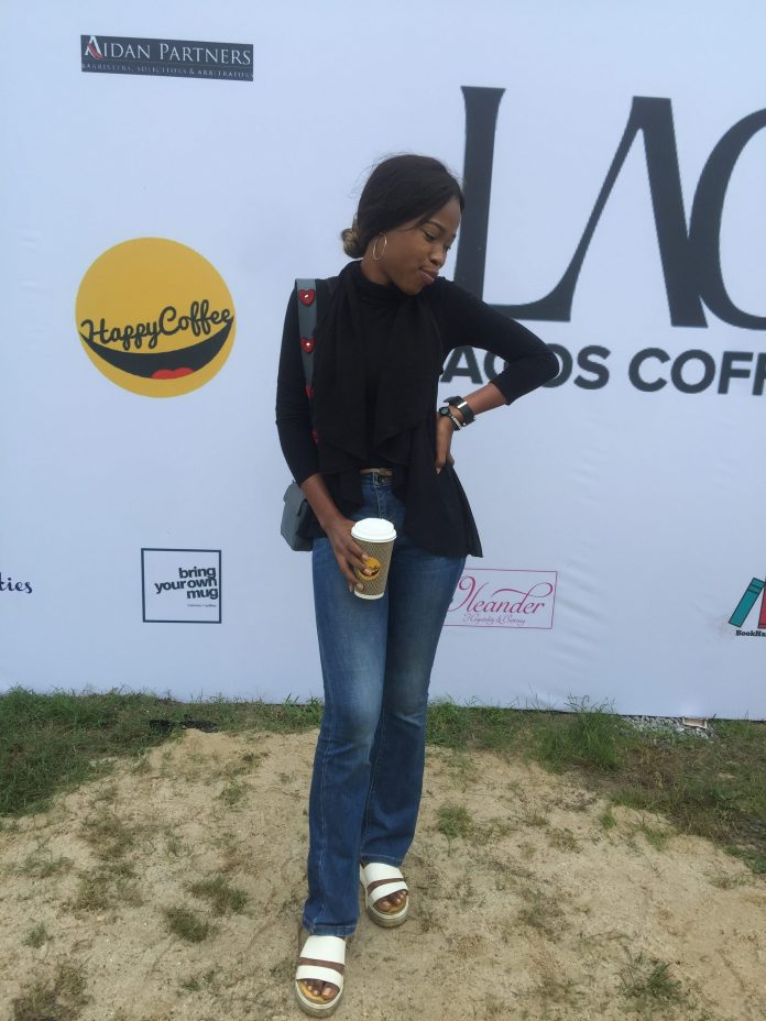Jessica at the Lagos Coffee Festival