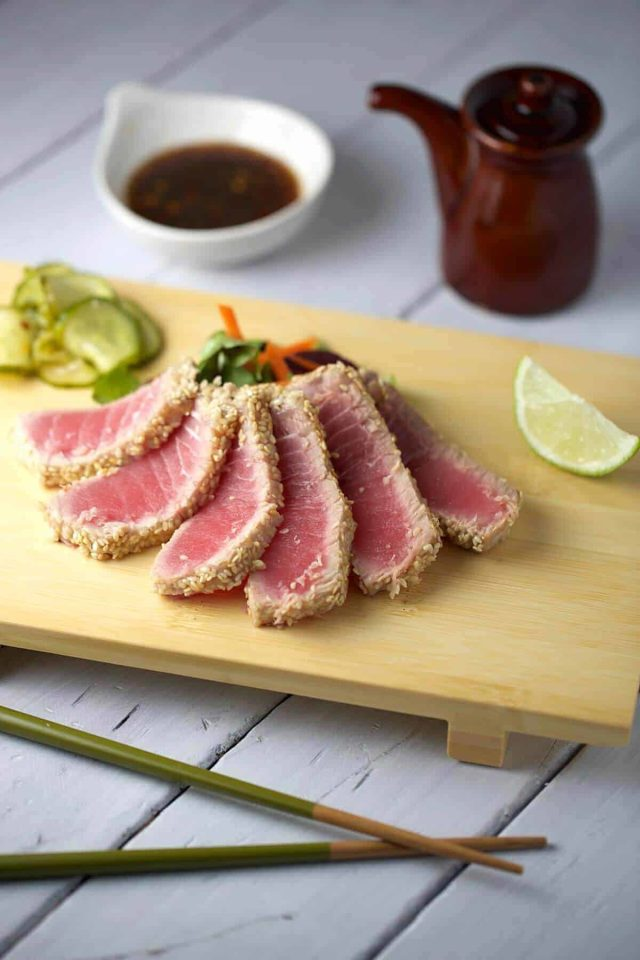 Sesame Crusted Ahi Tuna With Soy Ginger Sauce A Healthy And Very Simple Dish To
