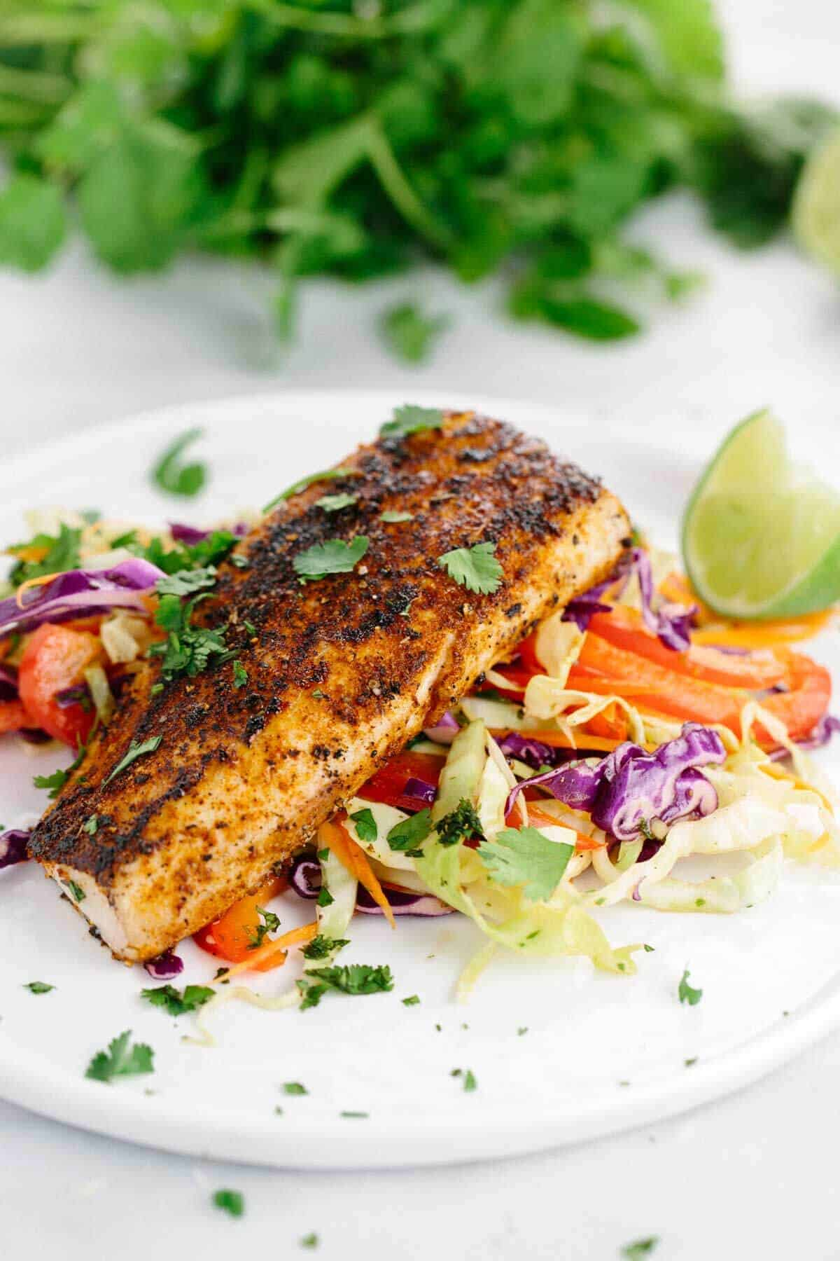Mahi Mahi with Honey Lime Coleslaw