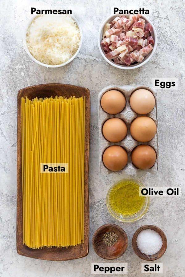 ingredients to make carbonara