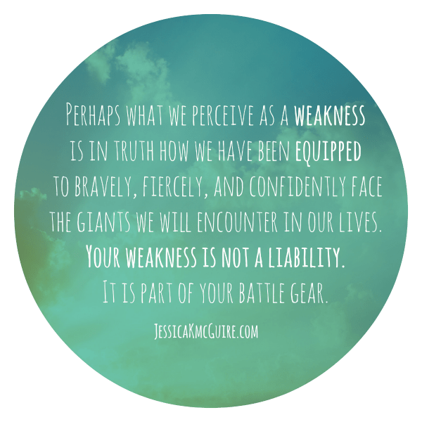 your weakness is not a liability