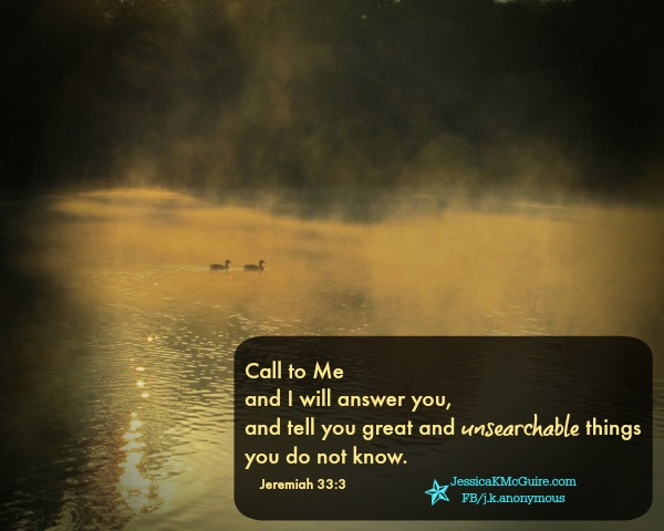 jeremiah 33 great unsearchable things jkmcguire