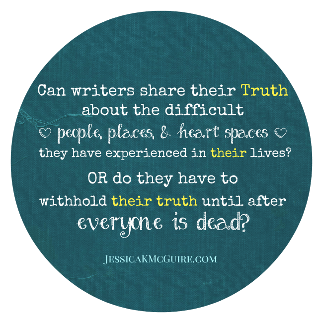 writers withholding truth