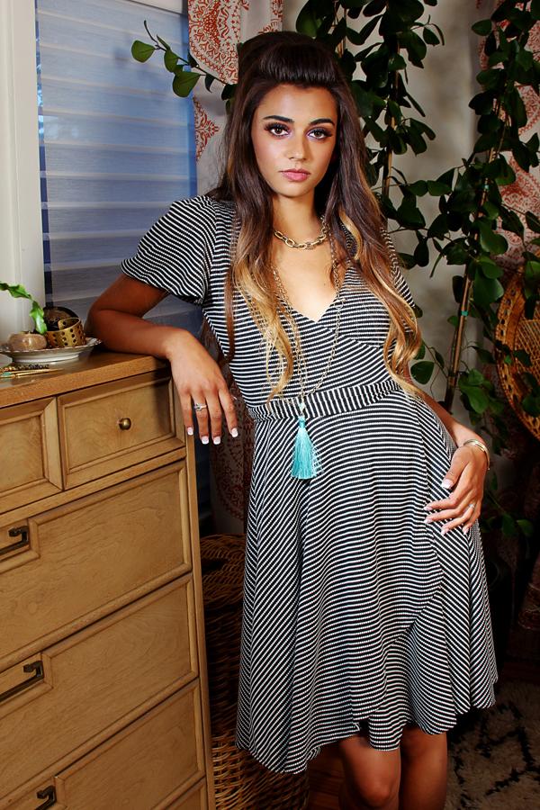 jessica louise flutter sleeve wrap dress