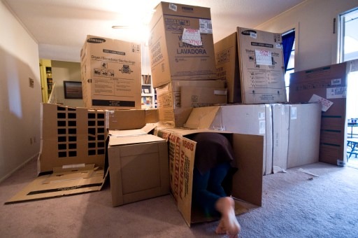 Cardboard box maze instructions and design idea for hours and HOURS of fun for kids and adults alike!