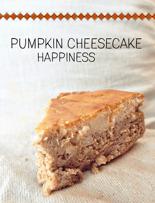 This crustless pumpkin cheesecake recipe is the perfect fall dessert; rich, creamy and ... cheesecake!
