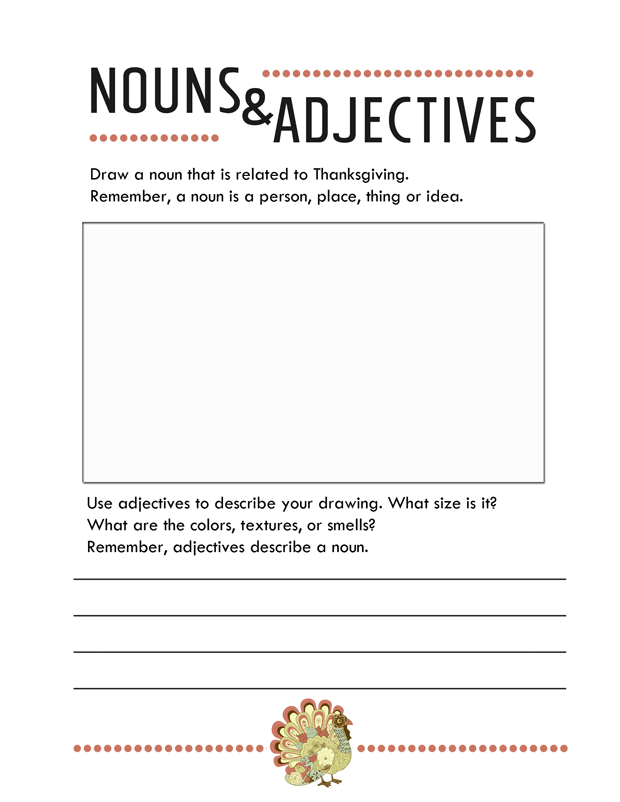 thanksgiving-worksheets-nouns-and-adjectives