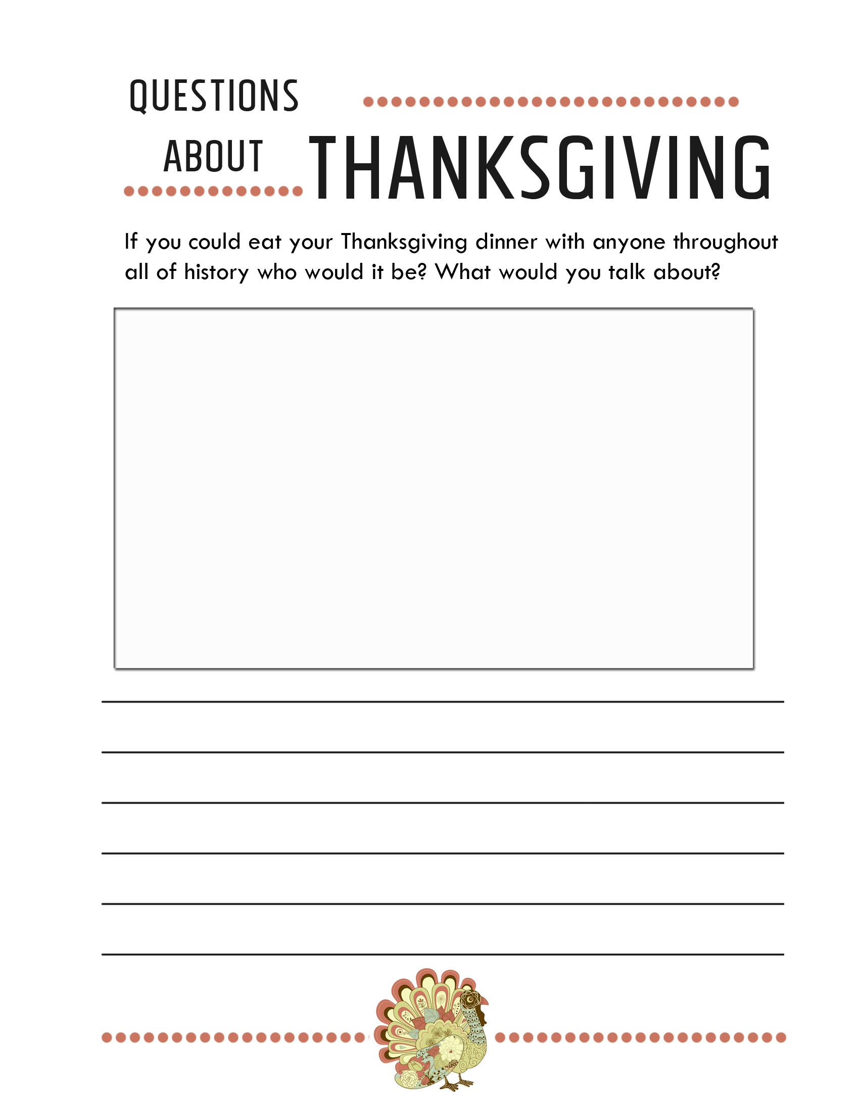 It's just a graphic of Nifty Printable Thanksgiving Worksheet