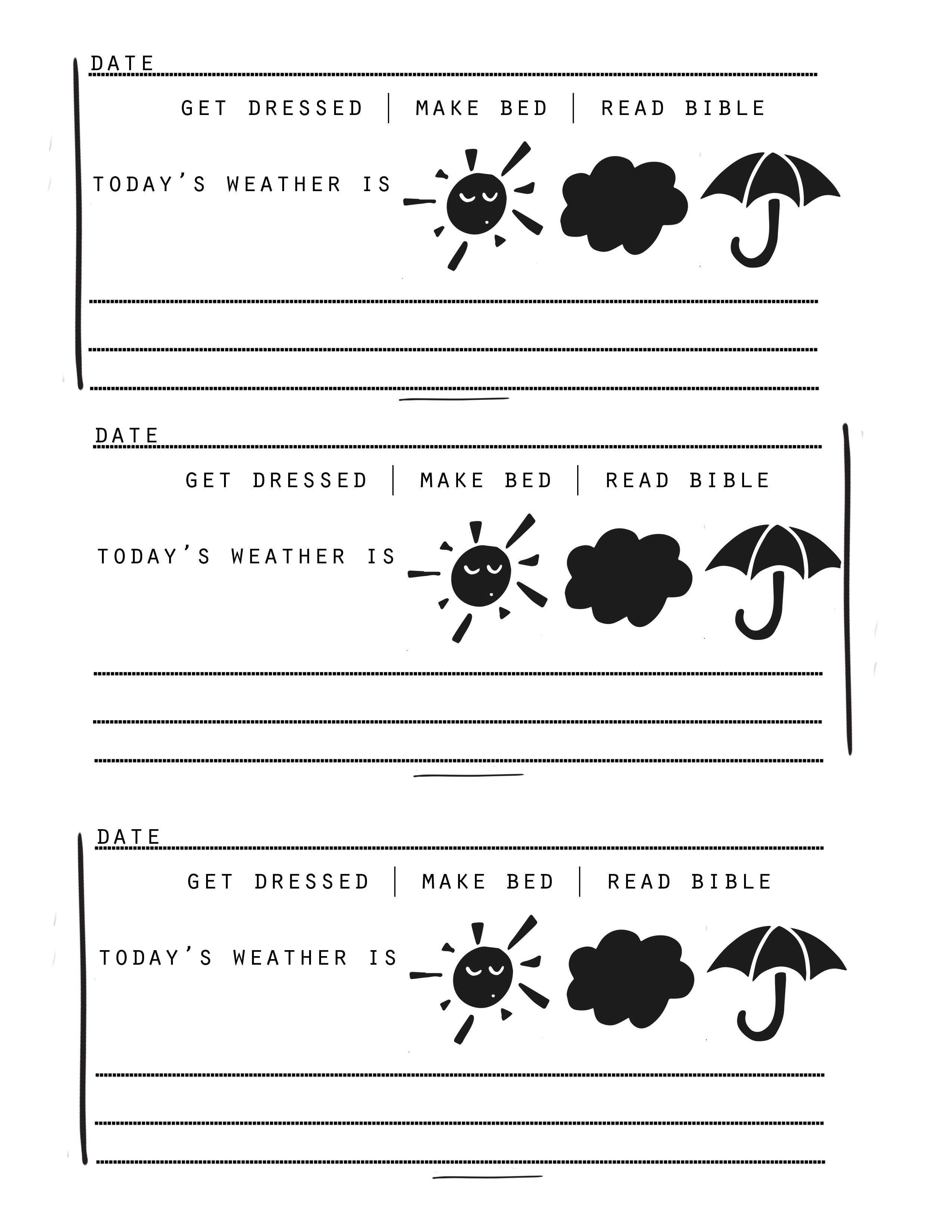 daily journal template jessicalynette com