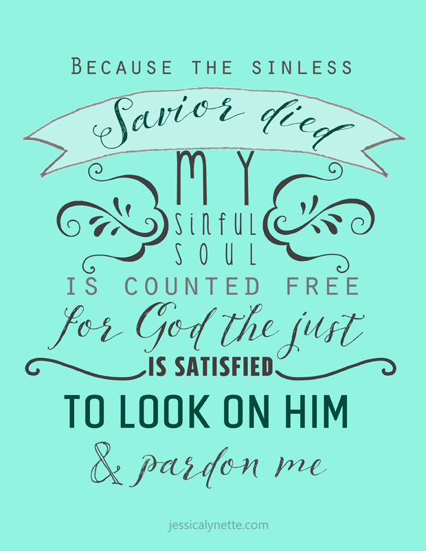 Before the Throne of God Above | Hymn Lyrics | Because the sinless Savior died, My sinful soul is counted free; For God the just is satisfied To look on Him and pardon me To look on Him and pardon me