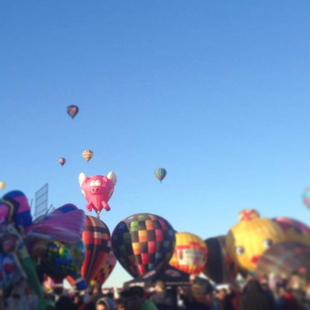 Seeing hundreds of balloons inflate, lift off, and float right in front of you at the Albuquerque Balloon Fiesta is simply astonishing.