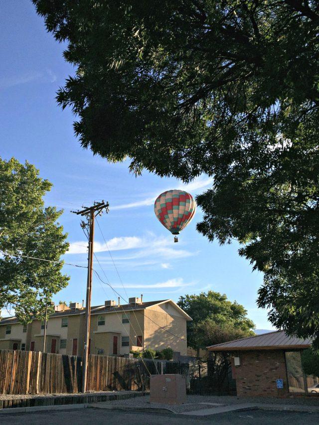 Balloon Chasing During the Balloon Fiesta