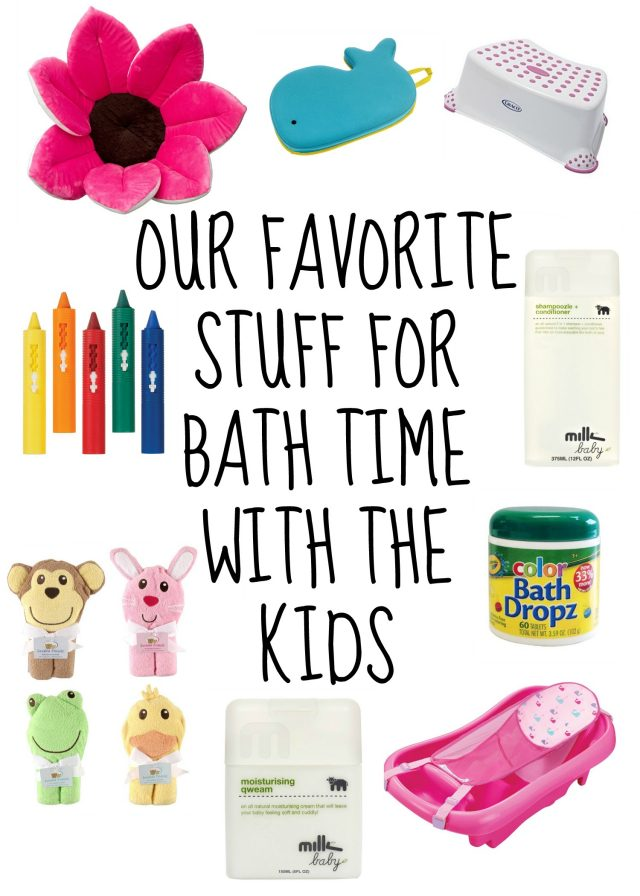 Bath time with the kids